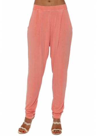 Chillings Loose Fit Pants In Melon
