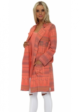 Marrakesh Print Melon Molly Jacket