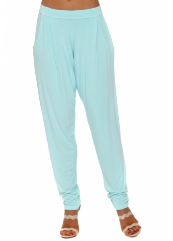 Chillings Loose Fit Pants In Paradise Blue