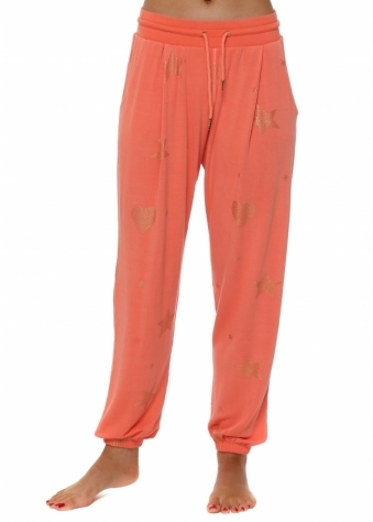 Melon Gold Star & Heart Jogger Pants