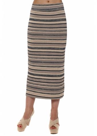 Ora Peach Ice Ombre Stripe Maxi Skirt