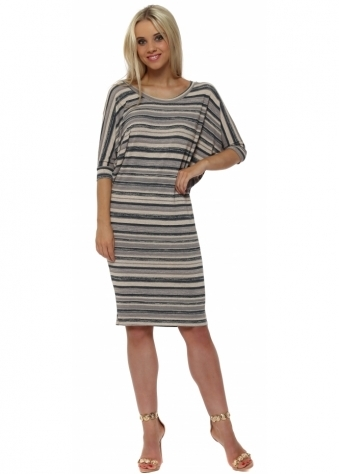 Olympia Peach Ice Ombre Stripe Tunic Dress