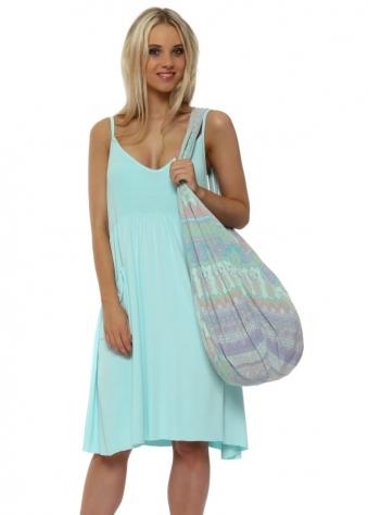 Baggie Paradise Blue Marrakesh Fabric Tote Bag
