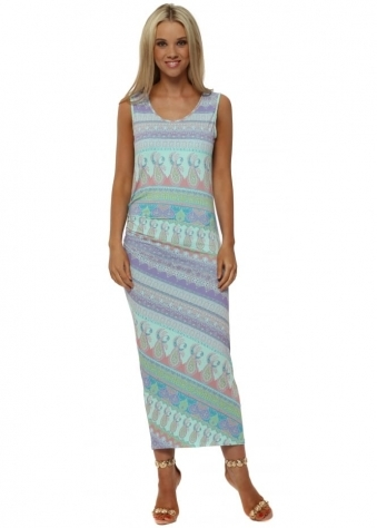 Marilyn Marrakesh Pencil Dress In Paradise