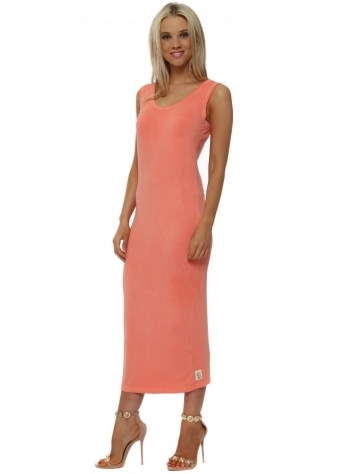 Nancy Melon Jersey Midi Dress