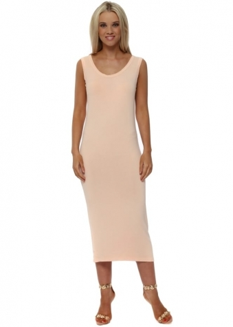 Nancy Peach Ice Jersey Midi Dress