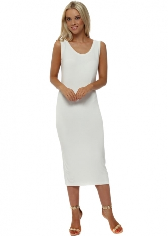 Nancy Vanilla Jersey Midi Dress