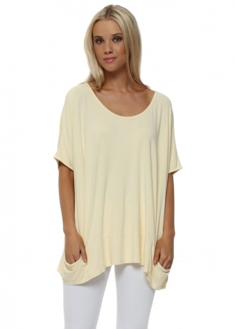 Sleeveless Pammy Slouch Jersey Top In Colada