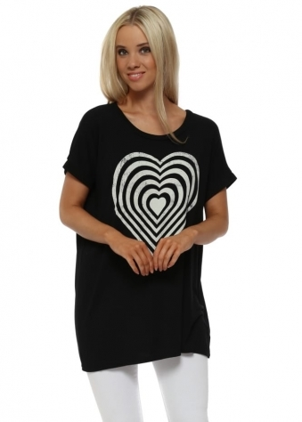 Black Infinity Heart Tank Sweater
