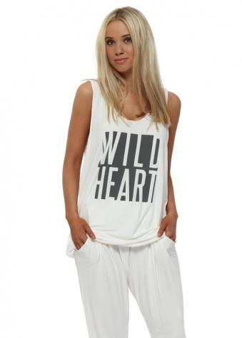 Vanilla Wild Heart Oversized Vest Top