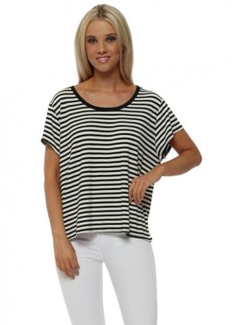 Hanna Hello Sailor Stripe Vanilla T-Shirt