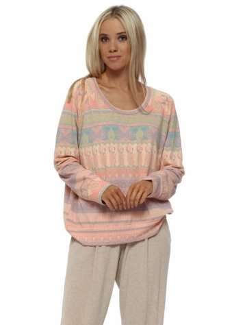 Minnie Marrakesh Express Sweater In Peach Ice