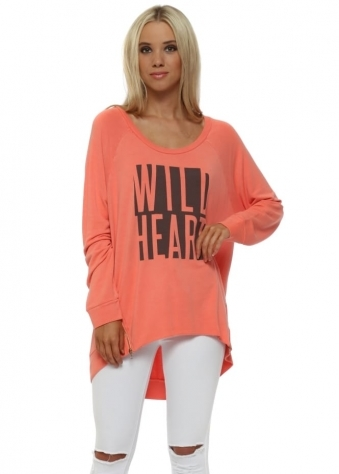 Melon Wild Heart Logo Zip Sweater