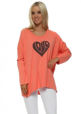 Melon Hippy Love Heart Sweater