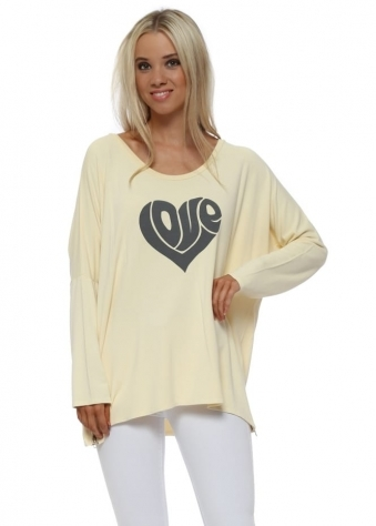Colada Hippy Love Heart Sweater