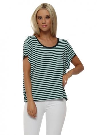 Hanna Hello Sailor Stripe Paradise Blue T-Shirt