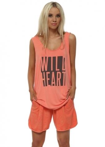 Pixie Melon Gold Paisley Sweat Shorts