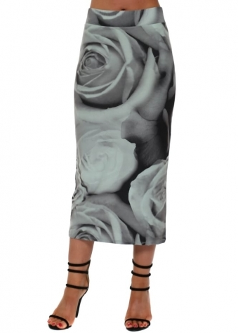Pearle Photo Rose Midi Skirt In Silt