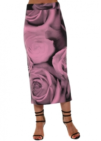 Pearle Photo Rose Midi Skirt In Passion