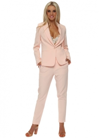 Peach Tailored Jacket & Trouser Suit