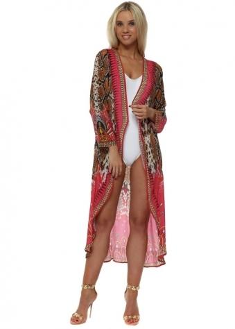 Exotic Pink Snake Crystal Kimono