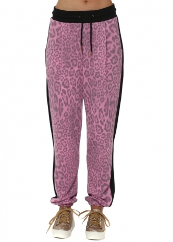 Passion Belle Big Kat Leopard Print Tracksuit Bottoms
