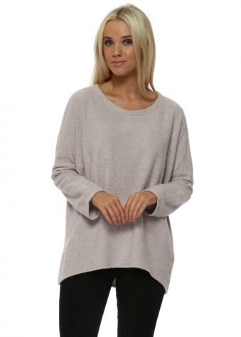 Carmen Coodle Knit Cosy Top In Vanilla