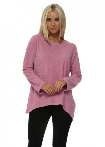 Carmen Coodle Knit Cosy Top In Passion