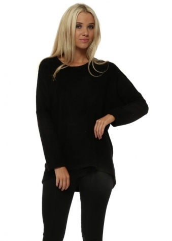 Carmen Coodle Knit Cosy Top In Black
