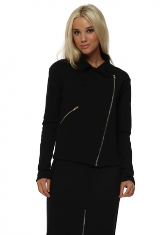Premium Collection Black Zipped Biker Jacket