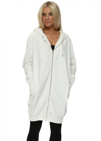 Penelope Vanilla Hooded Fleece Parker
