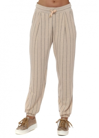 Charlie Peach Ice Pinstripe Jogger Pants