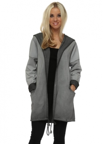 Grey Star Hooded Cotton Jacket