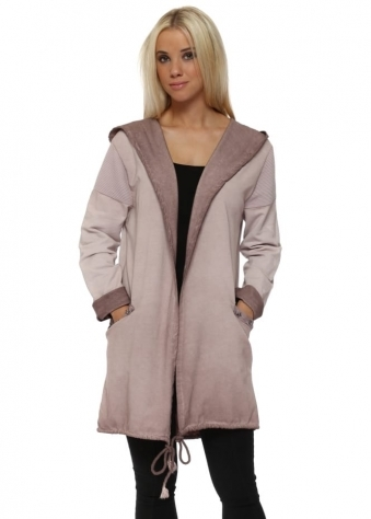 Pink Star Hooded Cotton Jacket