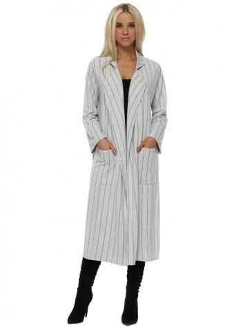 Cara Vanilla Pinstripe Deconstruct Jacket