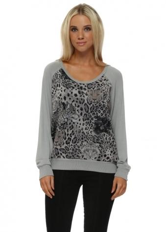 Mouse Sophie Selfie Leopard Kat Sweater