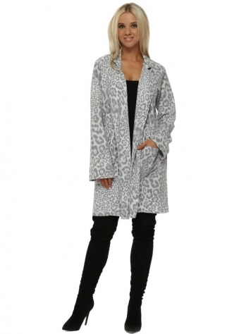 Brooke Vanilla Leopard Print Deconstruct Jacket