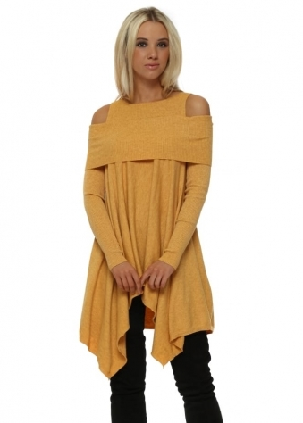 Mustard Off The Shoulder Swing Jumper
