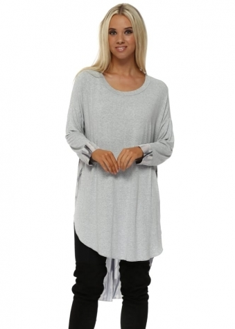 Vivi Urban Stripe Pleated Back Tunic Top In Vanilla