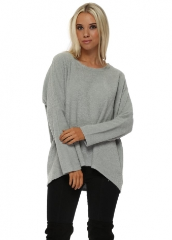 Carmen Coodle Knit Cosy Top In Silt