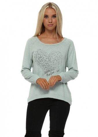 Renee Silt Starling Heart Slub Knit Ribs Jumper