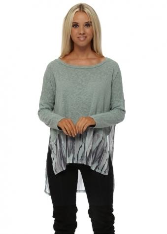 Violet Urban Stripe Slub Knit Sweater In Silt