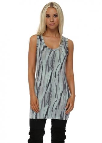 Vanessa Urban Stripe Vest In Silt