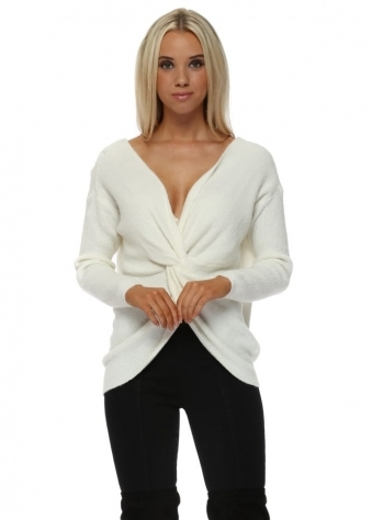 Ivory Multiway Wear Knotted Jumper