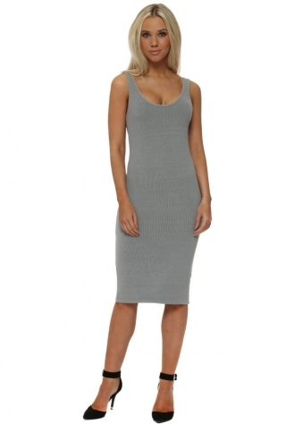 Grace Mouse Ribbed Midi Vest Dress