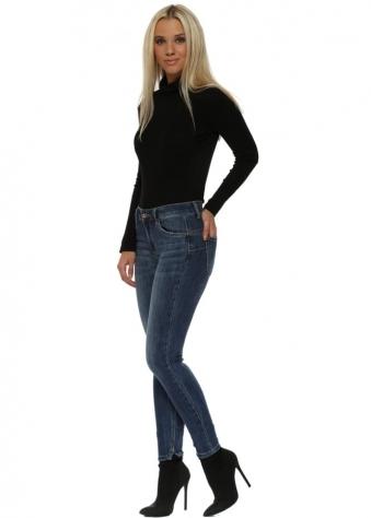 Blue Denim Booty Uplift Skinny Jeans