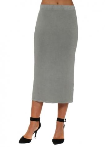 Thunder Jersey Column Pencil Skirt