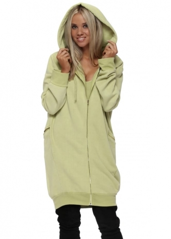 Penelope Golden Lime Hooded Fleece Parker