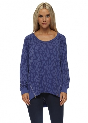 Samantha Sexy Skin Zip Sweater In Indigo