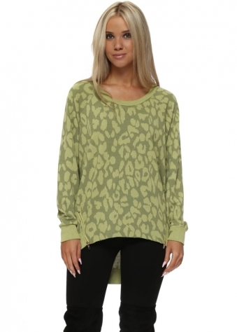 Samantha Sexy Skin Zip Sweater In Golden Lime